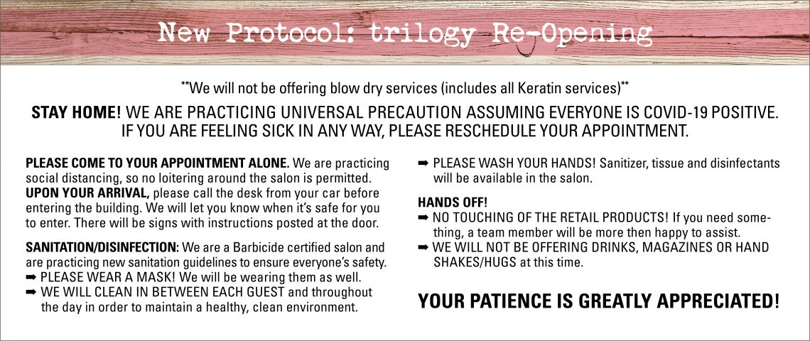 New Protocol: trilogy Re-Opening